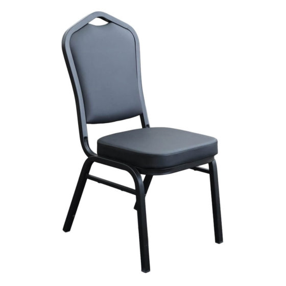 Function Chair Black Vinyl Black Frame hospitality