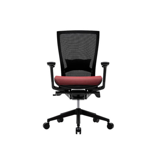 Fursys T50 AIR Mesh ergonomic task chair with Arms Black