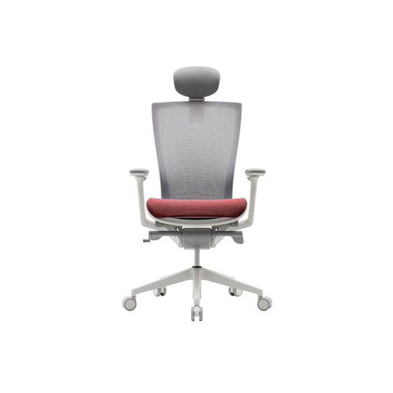 Fursys T50 Air Mesh ergonomic task chair Head Rest white