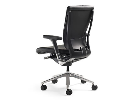 Fursys T51 executive upholstered chair rear angle