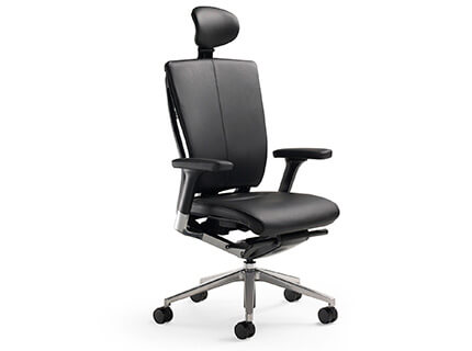 Fursys T51 executive upholstered chair with front angle