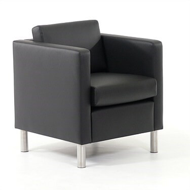 Gamin Armchair lounge black leather