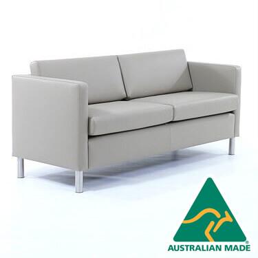 Gamin Lounge sofa grey leather 2 seater