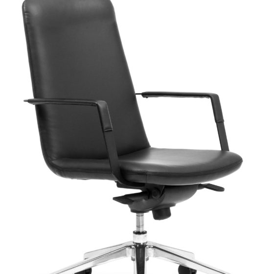 Governor Mid back ergonomic executive chair with arms leatherette