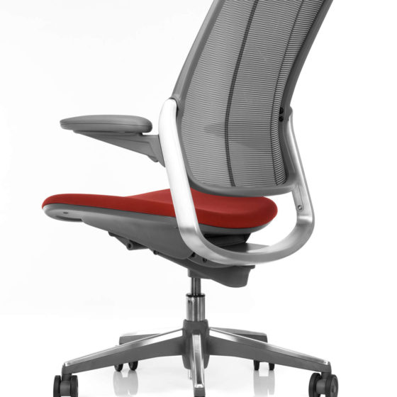 Humanscale Diffrient Smart chair red