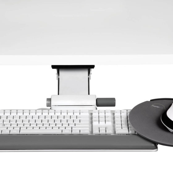 Humanscale Keyboard Systems front view retrofit adjustable keyboard mouse