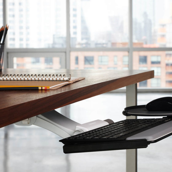 Humanscale Keyboard Systems retrofit adjustable keyboard workstations