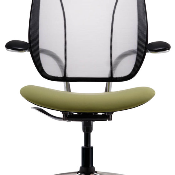 Humanscale Liberty chair mesh back green seat