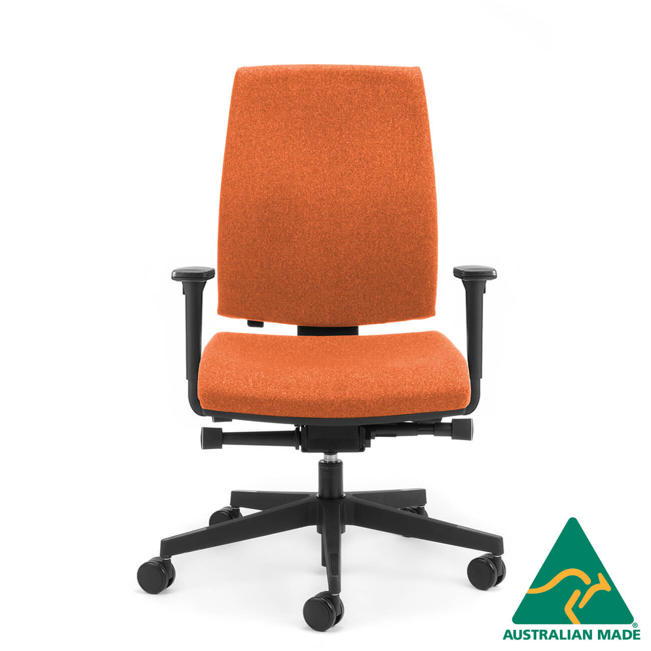 Kinetic high back executive chair with arms side angle