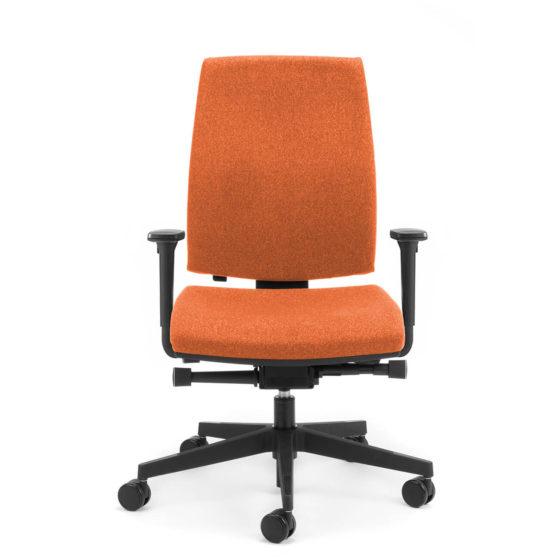 Kinetic high back executive chair with arms side angle