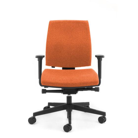Kinetic medium back executive chair with arms side angle
