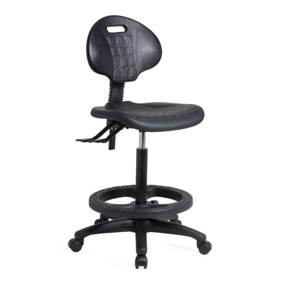 LAB 300 tech Chair Utility chair Black Footring