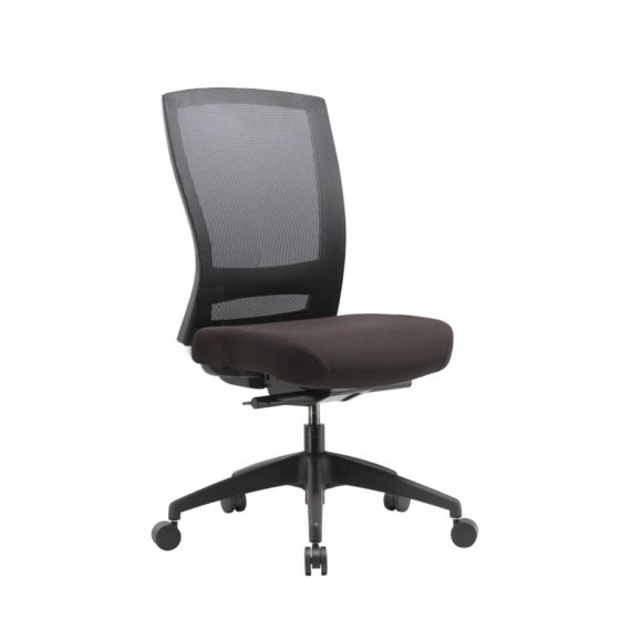 Mentor Mesh back synchro mechanism task chair black no arms