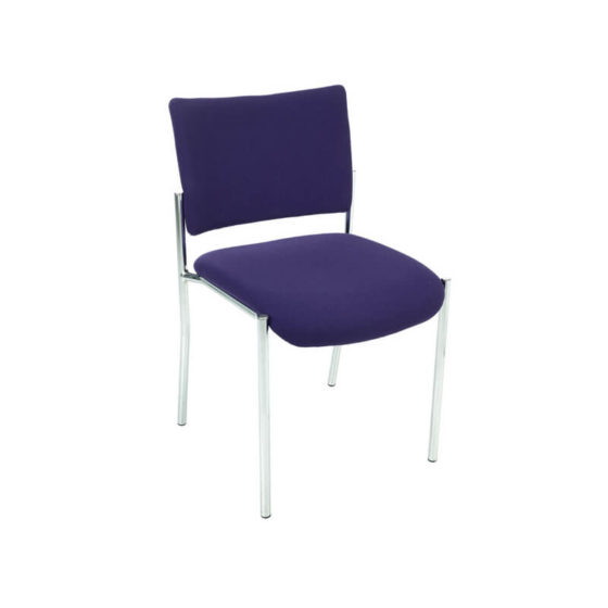 Meteor meeting visitor chair 4 leg Powdercoated frame