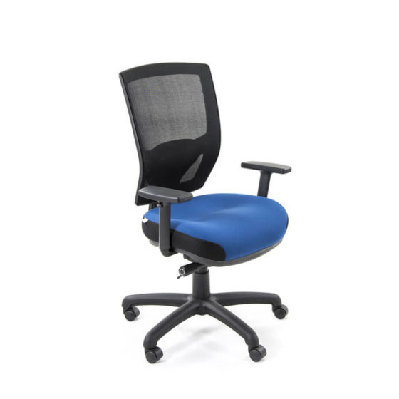 Miracle mesh medium back ergonomic task chair with arms front view