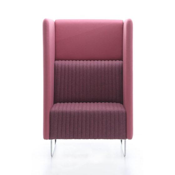Mona high collaborative lounge seating single seater