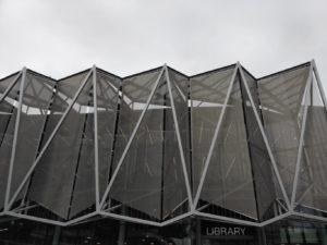 Exterior photo of exterior facade of the Library at Monash Caulfield