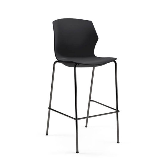 No Frill stool black shell black base