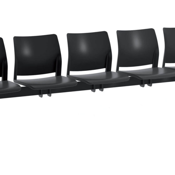 Oxygen CS 02 Beam seating 5 seater waiting room furniture