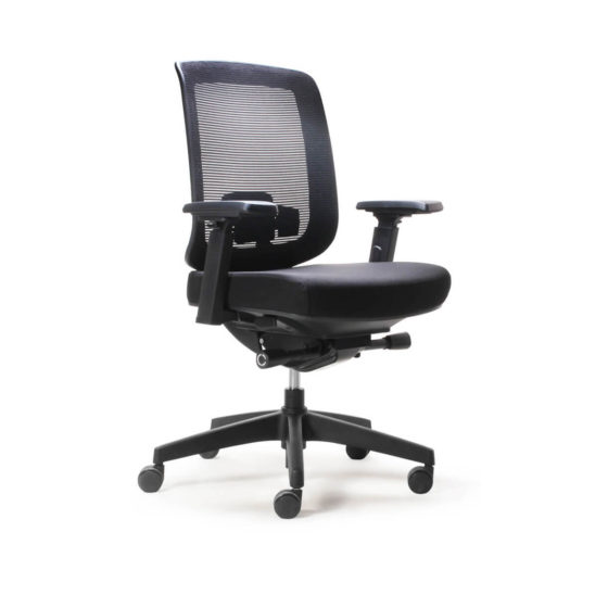 Parker ergonomic synchro mechanism task chair, medium mesh back