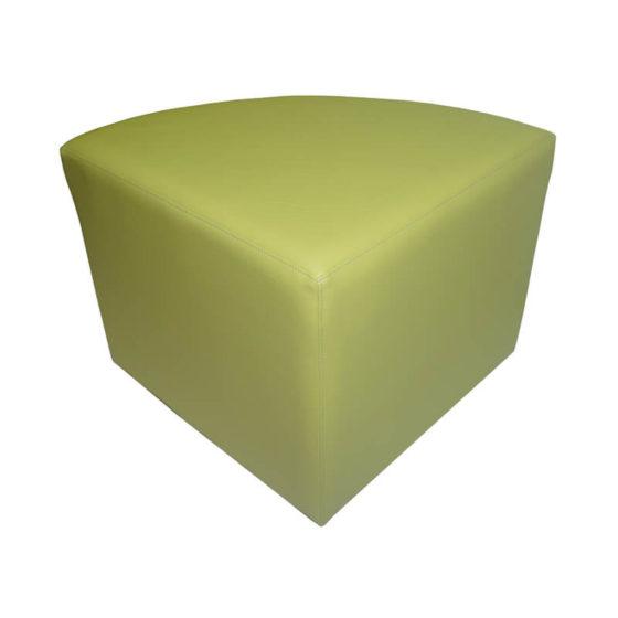 Quad ottoman seat green