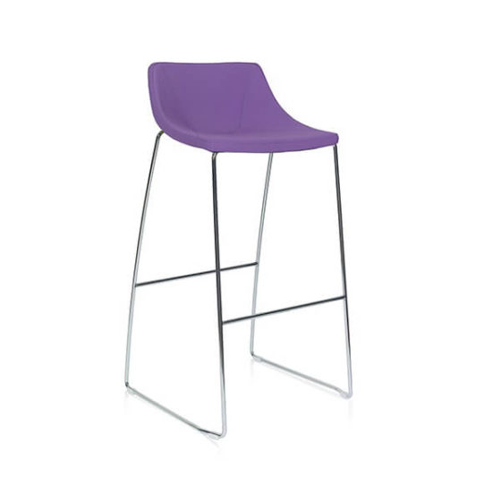 SKoop barstool purple sled base