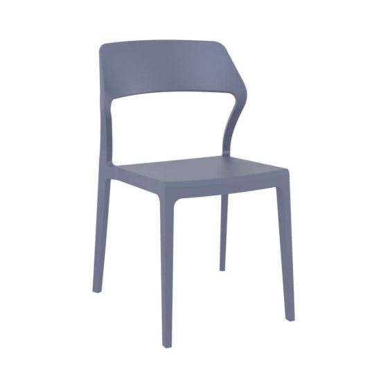 Snow chair outdoor hospitality plastic chair grey