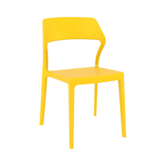 Snow chair outdoor hospitality plastic chair yellow