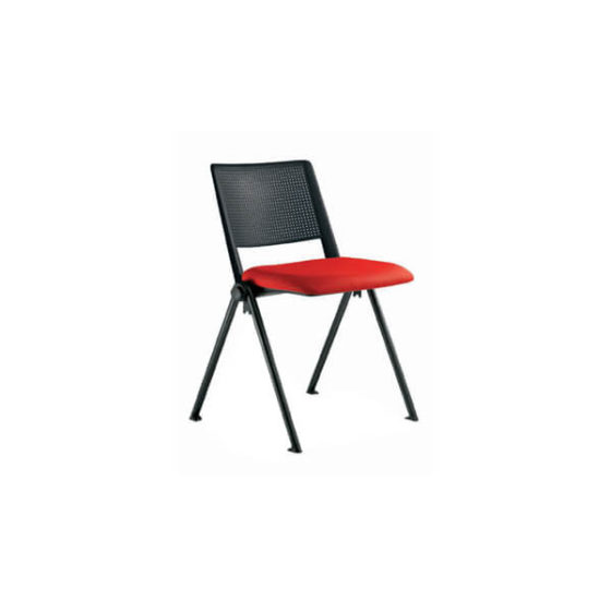 Telesto educational tablet chair with red seat pad