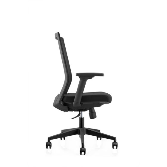 ZS120 executive mesh back ergonomic chair side angle