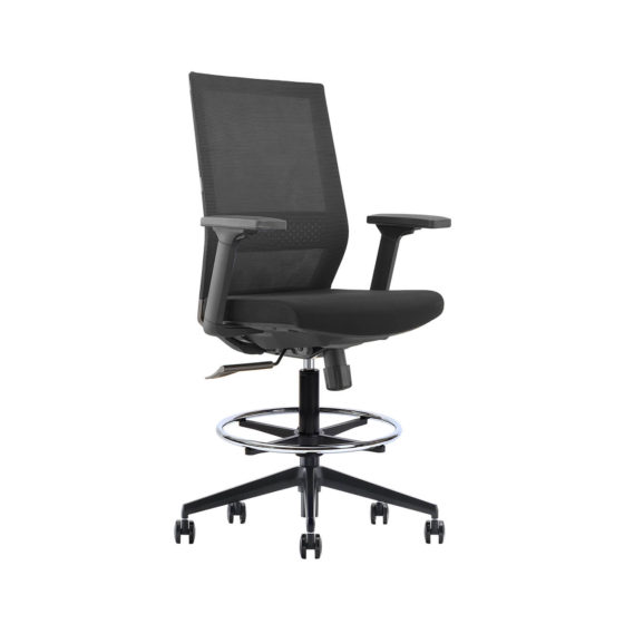 ZS120 executive mesh back ergonomic drafting chair front angle