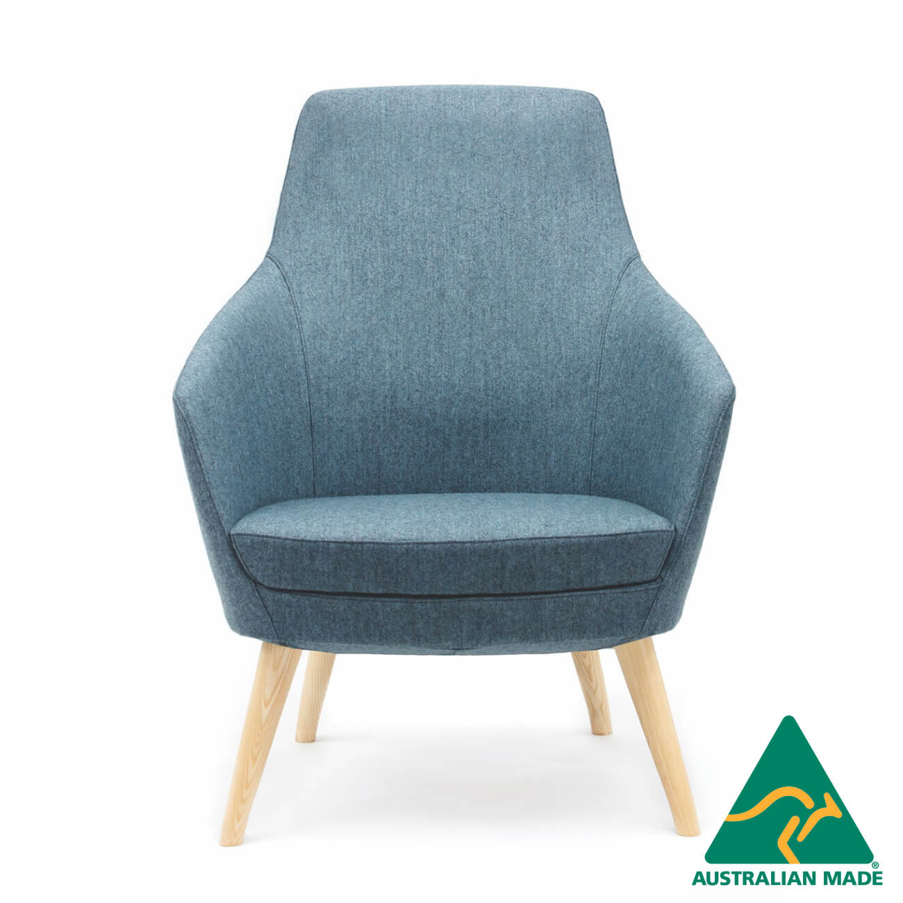 annette lounge armchair medium back timber frame