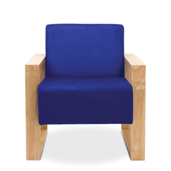 malibu single seater blu upholstery timber frame