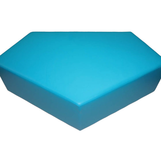 poly ottoman seat blue