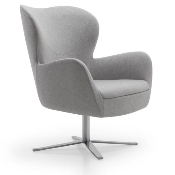 sixty lounge armchair upholstered swivel