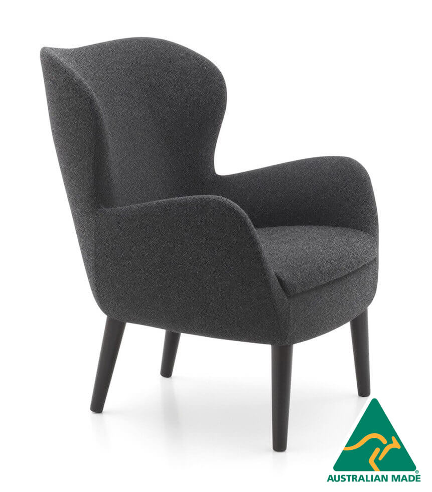 sixty lounge armchair upholstered timber