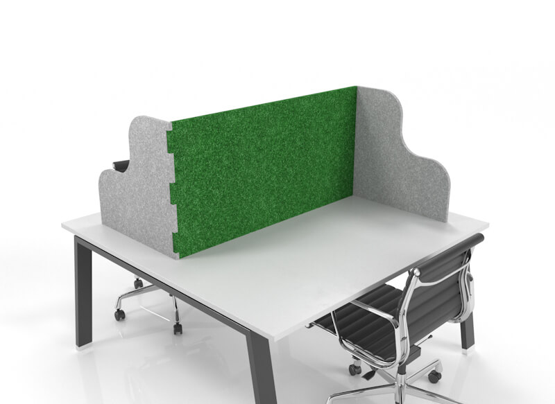 CUBEX in Z configuration with curvature side panels, green and light-grey