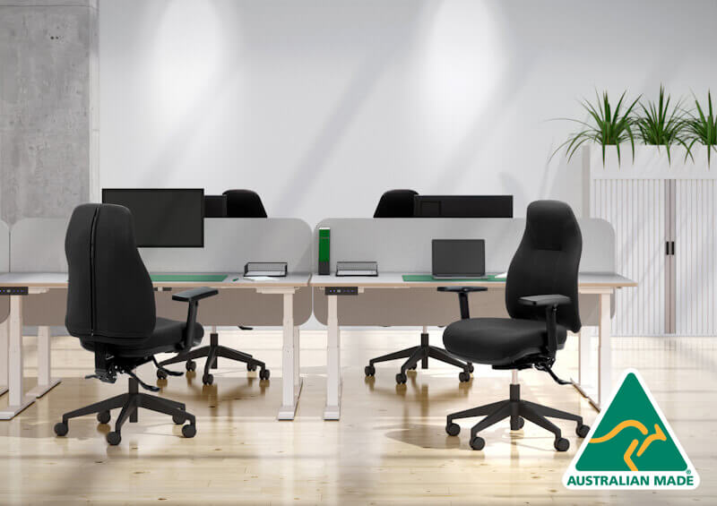 Orthopod by Therapod Classic 135 task chair with arms within office fitout