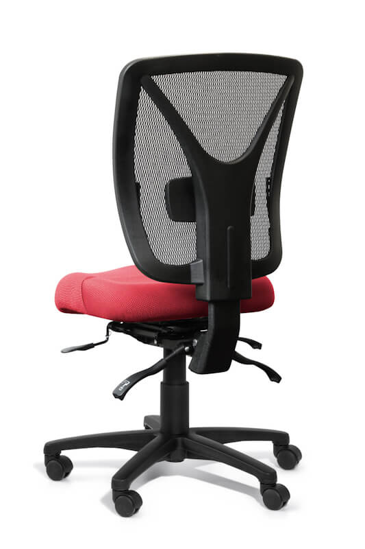 rear view of Evoke Mesh back ergonomic task chair