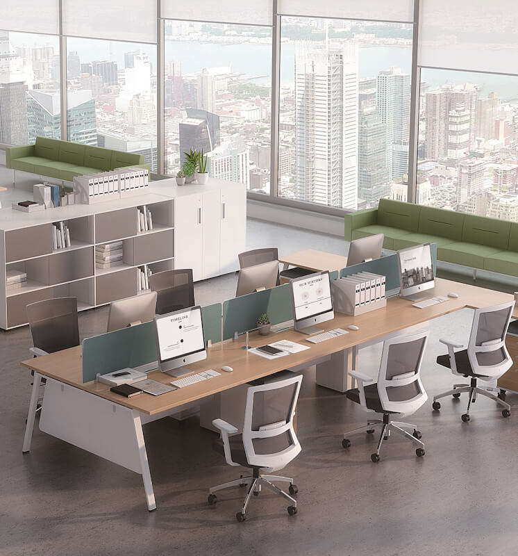 Mix A frame desk with back to back configuration
