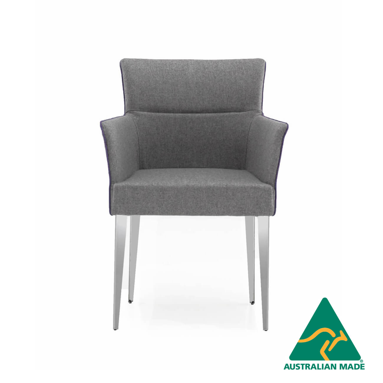 adele armchair steel frame
