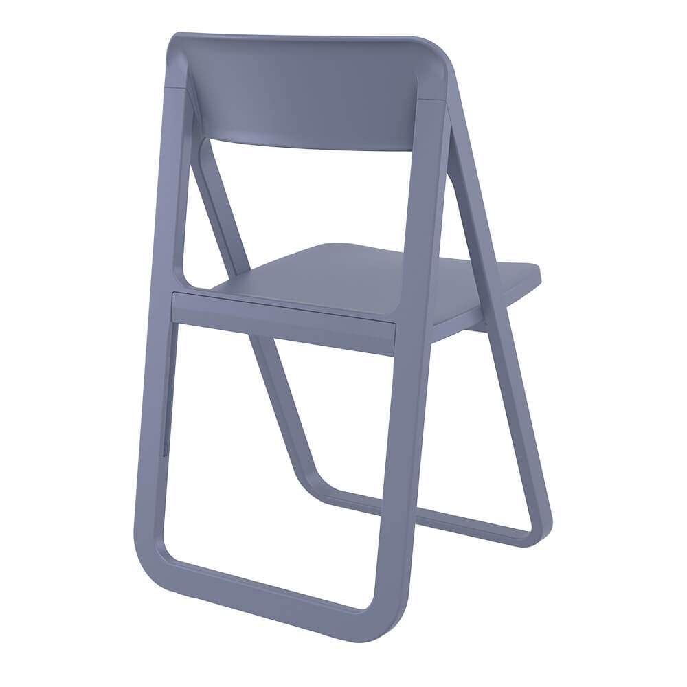 Dark grey dream folding chair back view