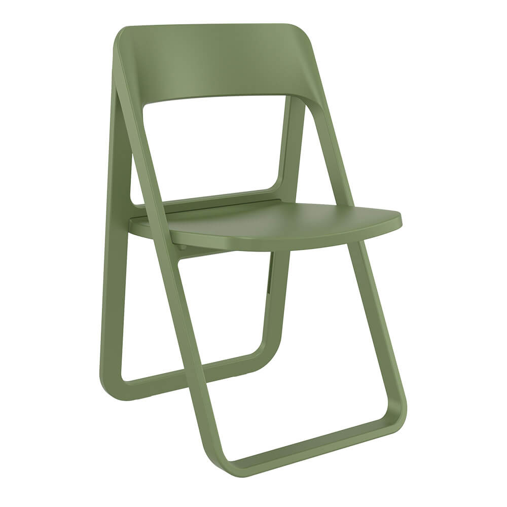 Dream folding chair in green - front view