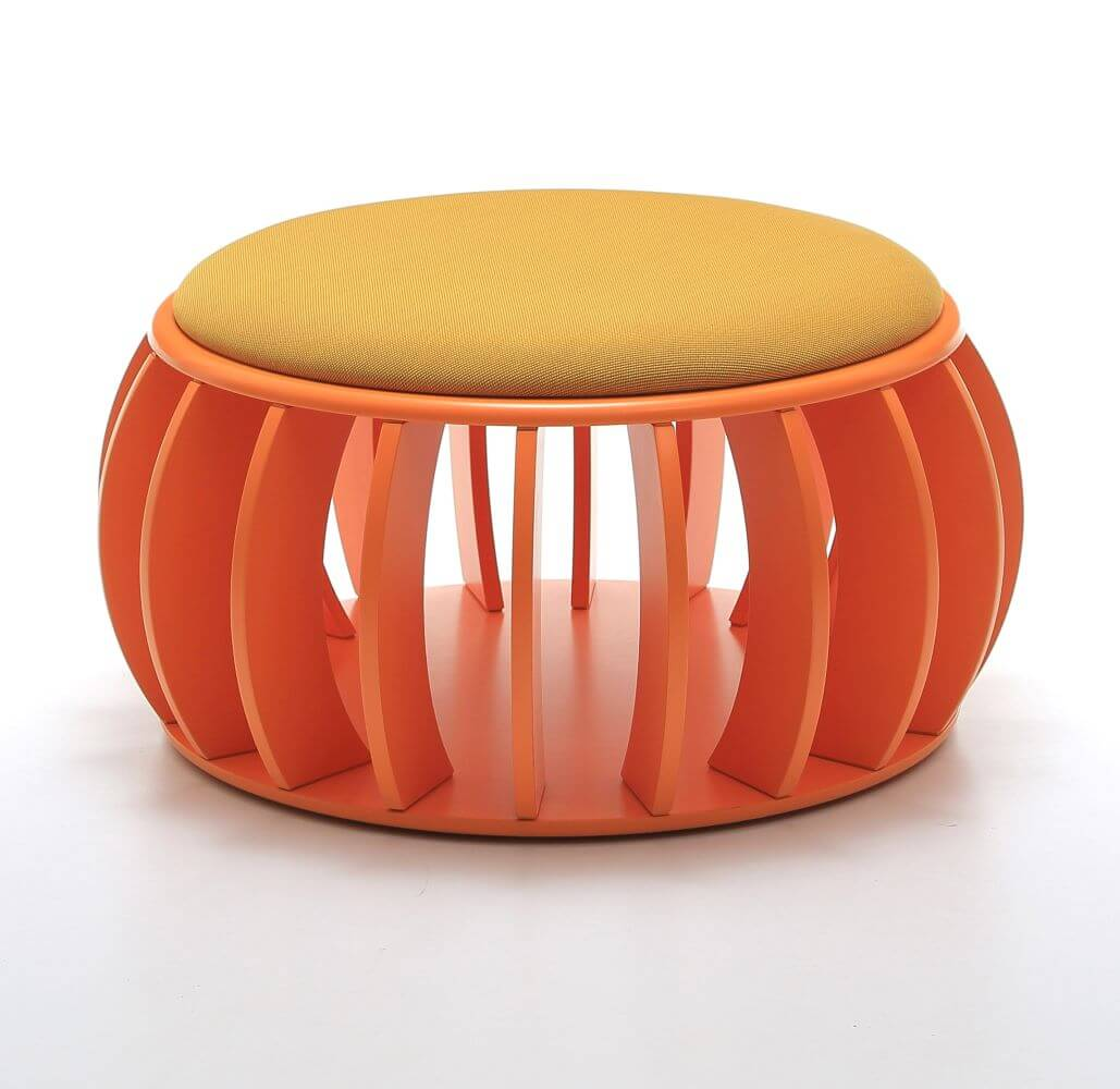 C-Anemone in orange with orange seat upholstery