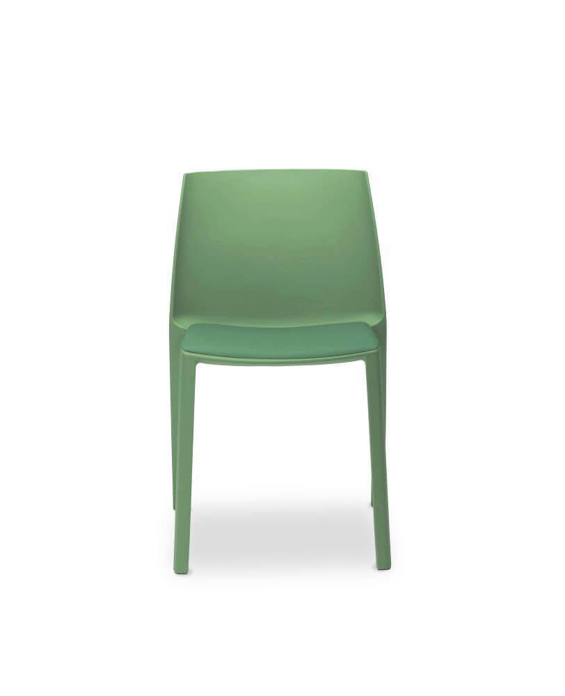 Dora chair in blue, front view