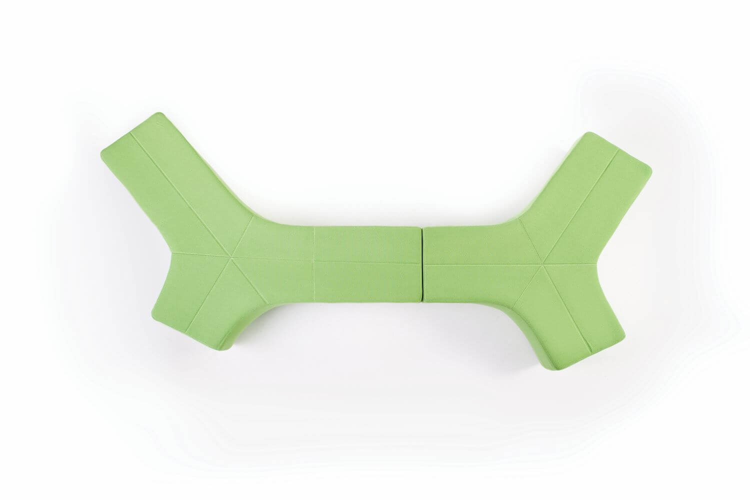 Stem Ottoman Large, in green from above