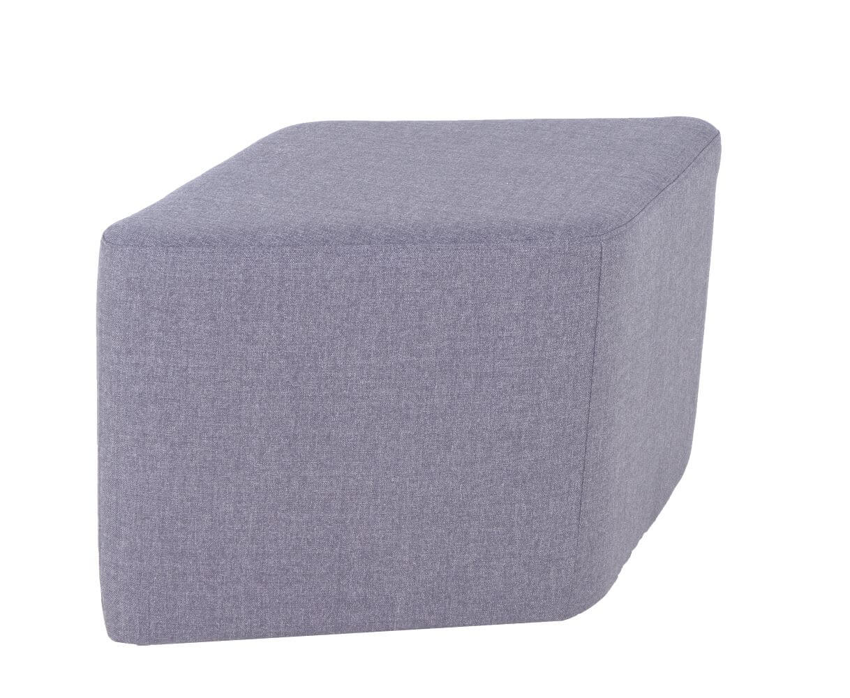 York Ottoman grey upholstery, parallelogram