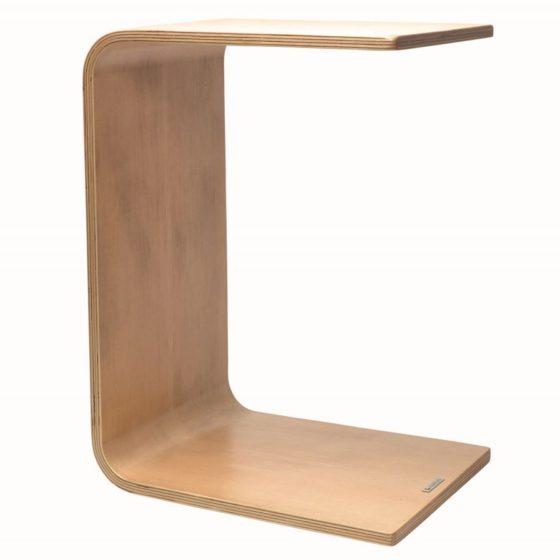 Link laptop table, natural veneer finish, upright position